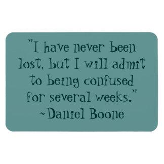 Daniel Boone perdió el imán flexible de la cita