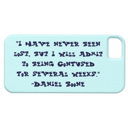 Daniel Boone perdió la caja del iPhone 5 de la cit iPhone 5 Cárcasa