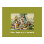 Daniel Boone protects his family Postcard