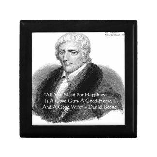 Daniel Boone Quote Jewelry Box