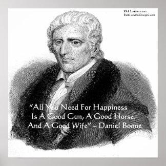 Daniel Boone y poster de la cita del humor