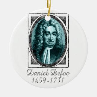 Daniel Defoe Ceramic Ornament