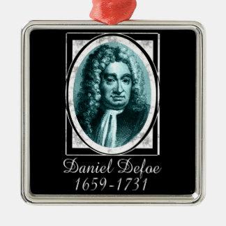 Daniel Defoe Metal Ornament