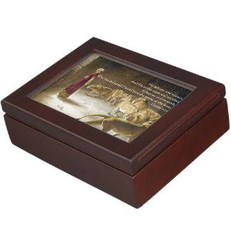 Daniel en la escritura del arte de la biblia de la cajas de recuerdos