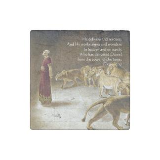 Daniel en la escritura del arte de la biblia de la imán de piedra