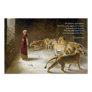 Daniel en la escritura del arte de la biblia de la perfect poster