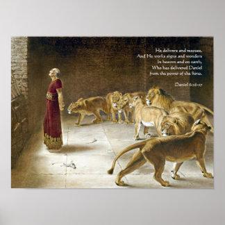 Daniel en la escritura del arte de la biblia de la póster