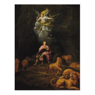 Daniel en la guarida de leones postales