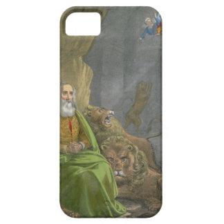 Daniel en la guarida de los leones, de una biblia iPhone 5 Case-Mate cárcasa