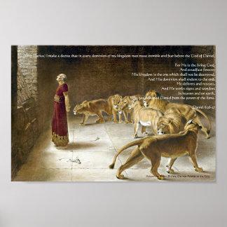 Daniel en la impresión del arte de la biblia de la póster