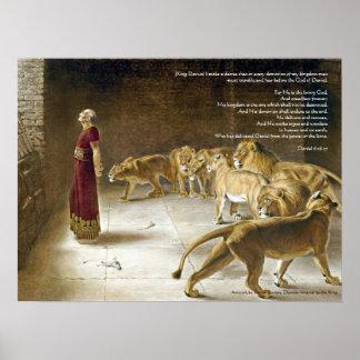 Daniel en la impresión del arte del verso de la póster