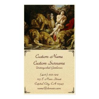 Daniel en la pintura de Peter Paul Rubens de la gu Plantillas De Tarjetas Personales