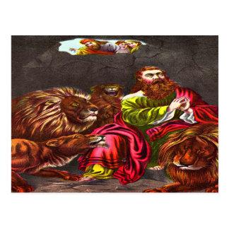 Daniel en la postal de la guarida del ` s del león