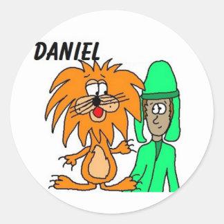 Daniel en los pegatinas de la guarida del león pegatina redonda