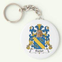 Daniel Family Crest Keychain