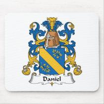 Daniel Family Crest Mousepad