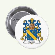 Daniel Family Crest Button