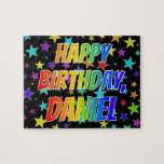 "[ Thumbnail: ""Daniel"" First Name, Fun ""Happy Birthday"" Jigsaw Puzzle ]"