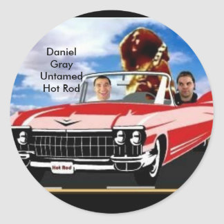 Daniel Gray Untamed Classic Round Sticker