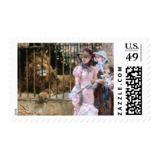 Daniel Hernández Morillo: At the Lion Cage Postage Stamp