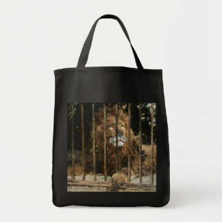 Daniel Hernández Morillo: At the Lion Cage Tote Bag