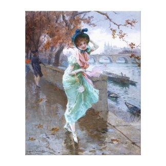 Daniel Hernández Morillo: Parisian Girl Canvas Print