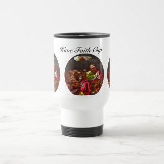 Daniel in the lion`s den cup mug