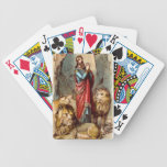 Daniel in the lion`s den playing cards bicycle playing cards