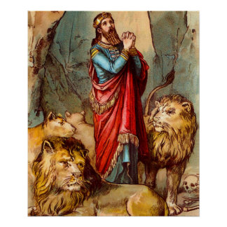 Daniel in the lion`s den poster