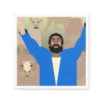Daniel in the Lions' Den alt napkins