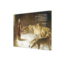 Daniel in the Lion's Den Bible Art Scripture Canvas Print