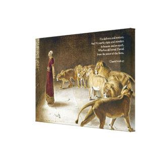 Daniel In The Lion's Den Bible Art Scripture Canvas Print at Zazzle