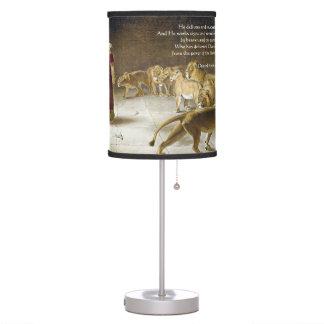 Daniel in the Lion's Den Bible Art Scripture Desk Lamp