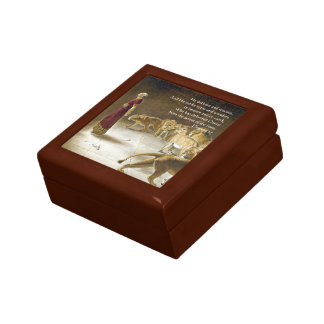 Daniel in the Lion's Den Bible Art Scripture Keepsake Box