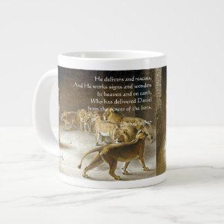 Daniel in the Lion's Den Bible Art Scripture Large Coffee Mug
