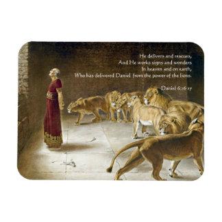 Daniel in the Lion's Den Bible Art Scripture Rectangular Photo Magnet