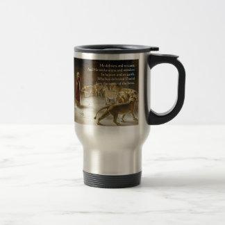 Daniel in the Lion's Den Bible Art Scripture Travel Mug