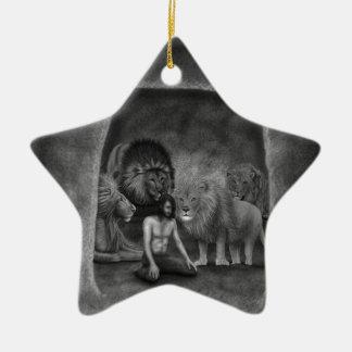 Daniel in the Lion's Den Ceramic Ornament