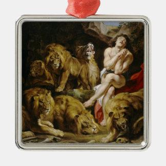 Daniel in the Lion's Den Peter Paul Rubens paint Metal Ornament