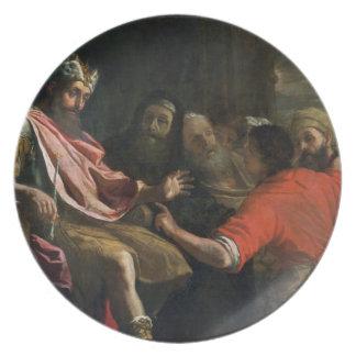 Daniel Interpreting Nebuchadnezzar's First Dream ( Party Plates