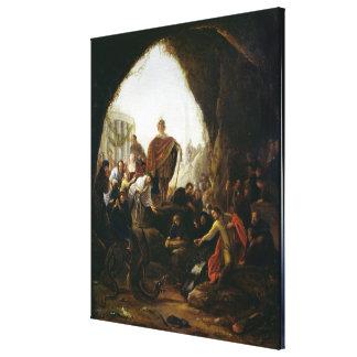Daniel Killing the Dragon of Baal Canvas Print
