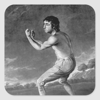 Daniel Mendoza, engraved by Henry Kinsbury, 1789 Square Stickers