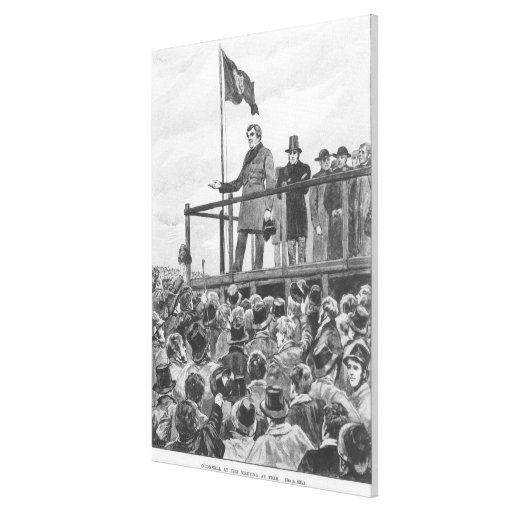 Daniel O'Connel  at the meeting at Trim Canvas Print