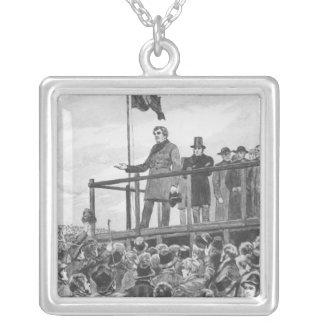 Daniel O'Connel  at the meeting at Trim Silver Plated Necklace