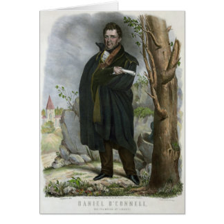 Daniel O'Connell Portrait by Hoffy Greeting Card