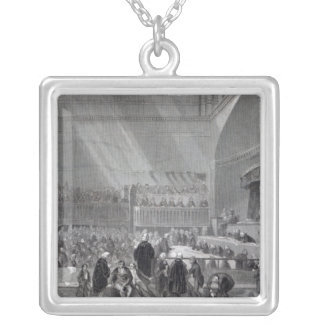 Daniel O'Connell standing trial in 1844 Silver Plated Necklace