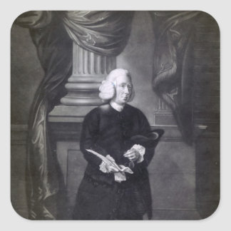 Daniel Race, engraved by James Watson, 1773 Square Sticker
