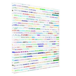 Daniel Text Design II Wrapped Canvas
