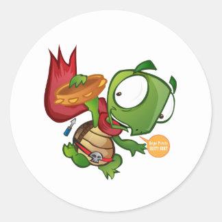 Daniel The Turtle Classic Round Sticker