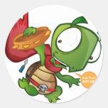Daniel The Turtle Round Sticker